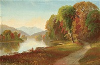 autumn - hudson river valley by daniel charles grose