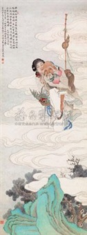 东方朔偷桃 (steal peach) by huang danru