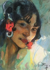 l'espagnole la fleur aux lèvres by mariano fortuny y de madrazo