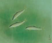 swimming sweetfish by kayo yamaguchi
