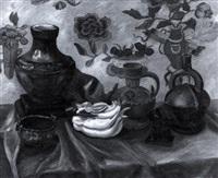 stillleben mit chinesischer und peruanischer keramik by lily benz