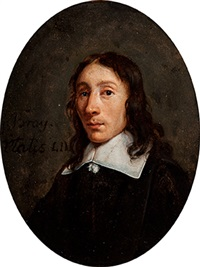portrait of a young man in a black coat with a lace collar by jan de bray