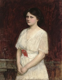 portrait of miss claire kenworthy by john william waterhouse