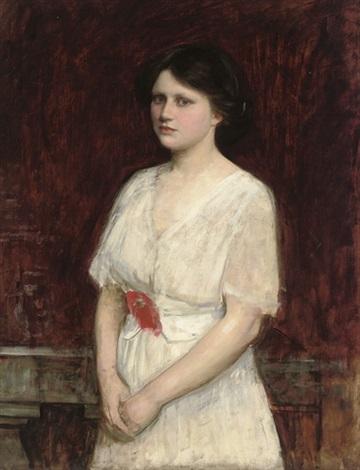 portrait of miss claire kenworthy by john william waterhouse
