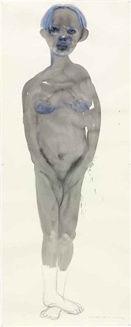 ghost with socks on by marlene dumas