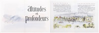 altitudes ed profondeurs (bk w/various works) by jean paul rémon