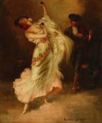 spanish dancer by oscar theodore jackman