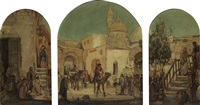 untitled (arab market scene) by william edouard scott