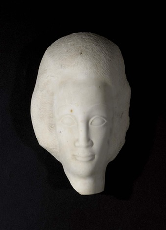 female head by jules vermeire
