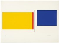 red, white, blue column, and plate vii (2) by ilya bolotowsky
