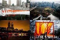 the gates, new york (portfolio of 5) by christo, jeanne claude & wolfgang volz