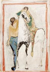 cavallo e due cavalieri by marino marini