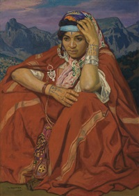 femme kabyle by jules migonney
