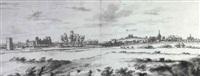 vue de la ville de sichem et de ruines du chateau de    scherpemheuvel (brabant) by valentijn klotz