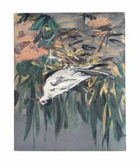 trauerseeschwalbe (black tern) by georg baselitz