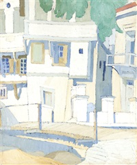 houses in lesvos by spyros papaloukas