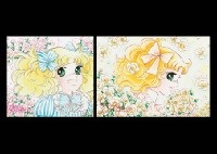 sweet blue (+ rose yellow; 2 works from cany candy series) by yumiko igarashi