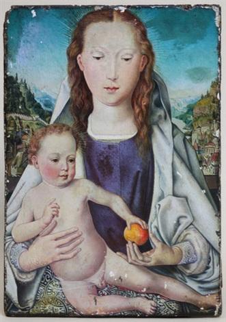 maria mit dem kind mitteltafel des kleinen portinari triptychons by hans memling