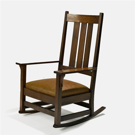 tall back rocker by gustav stickley