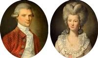 portrait d'homme portrait de femme (pair) by charles lepeintre