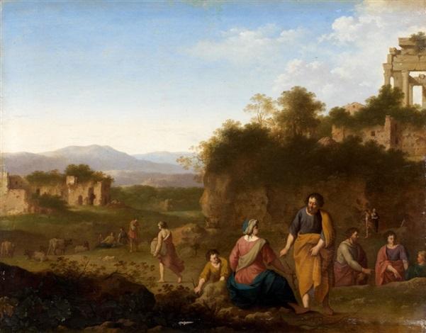 le prophète elie et la veuve de sarepta by cornelis van poelenburgh