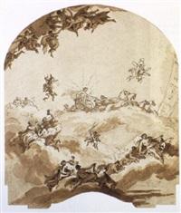 décor plafonnant avec apollon conduisant son quadrige by giuseppe valeriani