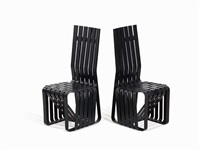 high sticking chairs (pair) by frank gehry