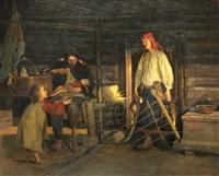 veteranenfamilie by abram efimovich arkhipov