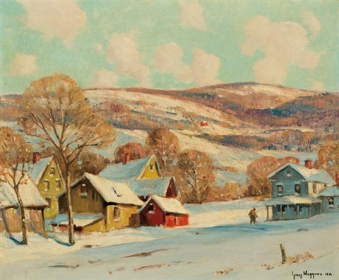 winter in connecticut by guy carleton wiggins