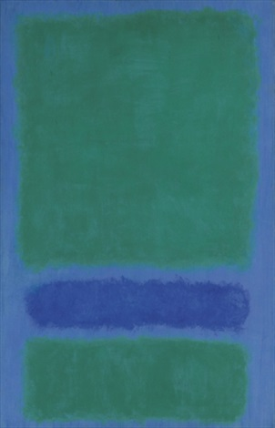 green blue green on blue by mark rothko