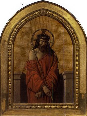 cristo coronato di spine by cesare mussini