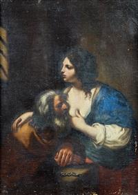 la charité romaine by guercino