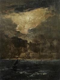 voilier sur la mer par un soir d'orage by alfred stevens