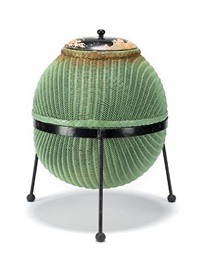 a sputnik linen basket (by geoffry lusty) by lloyd loom furniture