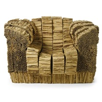 grandpa beaver armchair (from experimental edges series) by frank gehry