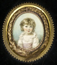 miniature of a young girl by horace hone