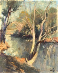 yarkon river by zvi adler