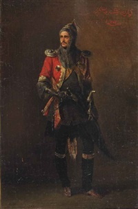an officer of the guard caucasion-mountaineer half squadron by adolphe ignatievich ladurner
