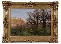 paysage des environs de besançon by marie-victor-emile isenbart