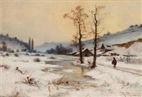 a winter landscape by karel liebscher