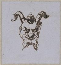 tête de satyre by eugène delacroix