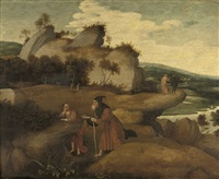 the temptation in the wilderness by jan (joannes sinapius) mostaert