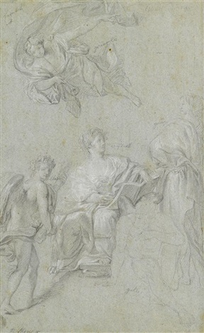 study for the triumph of history over time by anton raphael mengs