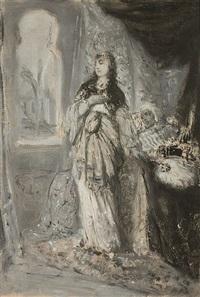 etude pour recha, fille de nathan (study) by moritz gottlieb