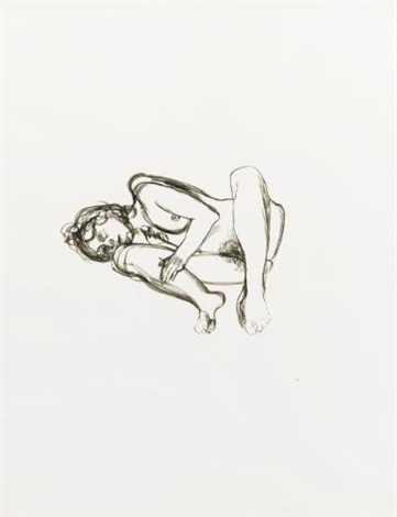 drawing for naked figure by lucian freud