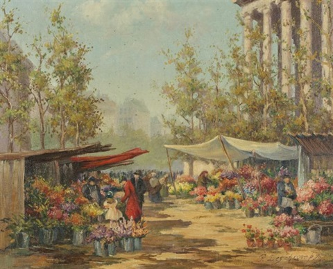 flower vendors by pierre deschamps