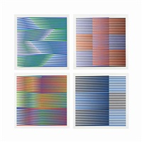 four plates, from: couleur additive by carlos cruz-diez