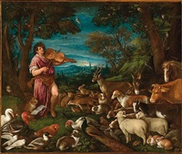 orfeo e gli animali by francesco bassano the younger