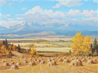 the rockies from nr. black diamond, alta by duncan mackinnon crockford