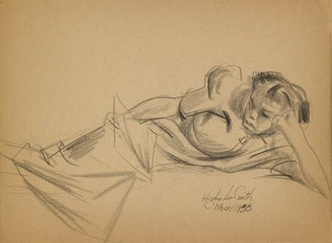 untitled reclining figure by hughie lee smith